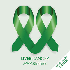 liver awareness cancer ribbon