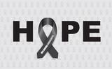 melanoma hope ribbon poster