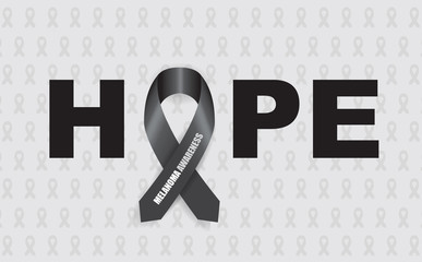 melanoma hope ribbon