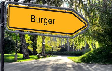Strassenschild 25 - Burger