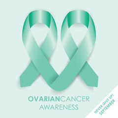Printovarian cancer ribbon