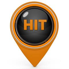 Hit pointer icon on white background