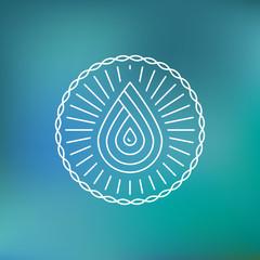 Vector water logo template