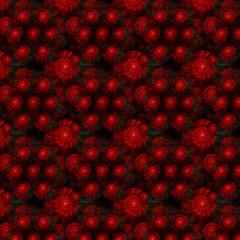 Weihnachtliches Fraktal, Geschenkpapier Textur - nahtlos kachelb