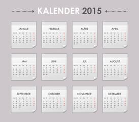 Kalender 2015 Jahresplaner Jahreskalender Taschenkalender grau