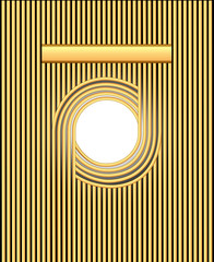 background frame with gold stripes and circles for text