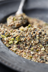 Dukkah, a nut and spice mixture from Egypt