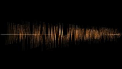 ANIMATION 4K OF AUDIO PERSON SPECTRUM IN ORANGE