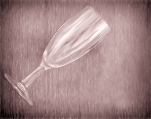 vintage glass  - illustration based on own photo image