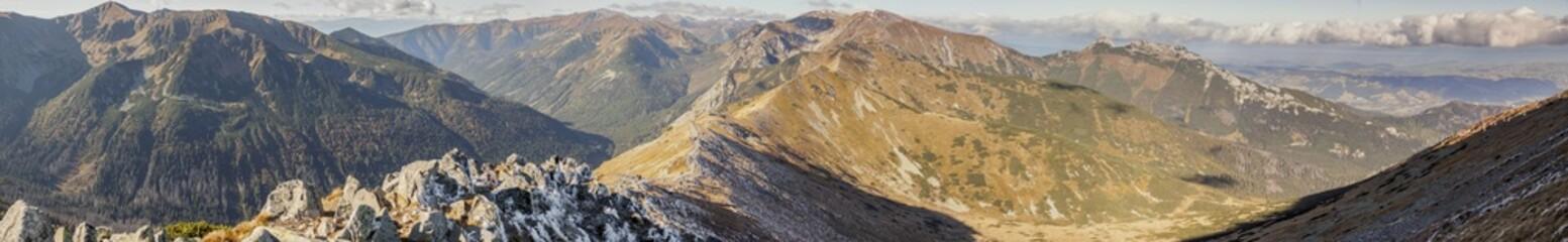 Panoramic view on Czerwone Wierchy - Tatras Mounatins.