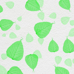 white wall texture with green leaf paint,for background