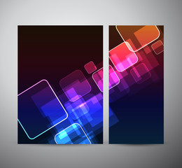 Abstract square. Brochure business design template or roll up