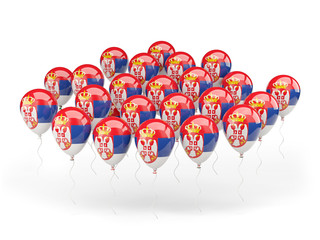Balloons with flag of serbia
