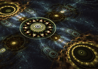 Abstract fractal circle background