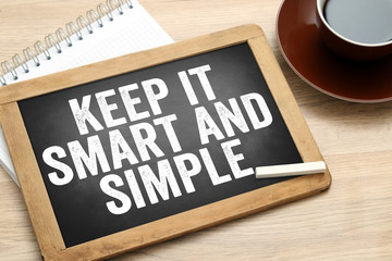 Keep it smart and simple