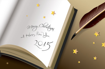 Merry Christmas and Happy new years 2015 Greeting