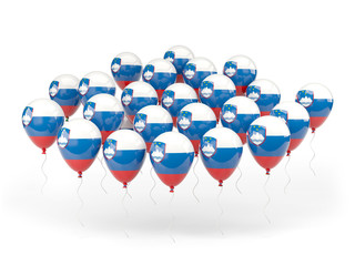 Balloons with flag of slovenia