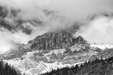 Dolomites Pordoi Mountain Alps Huge view