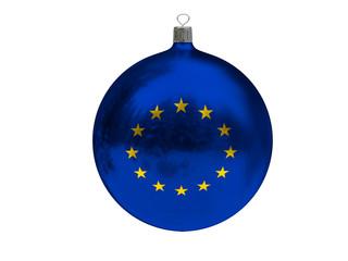 Christmas ball with flag of EU