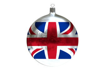 Christmas ball with flag of Great Britain