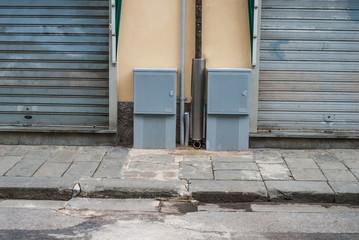 Cassetta del contatore Enel, Pannello Elettrico, strada