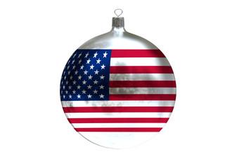 Christmas ball with flag of USA
