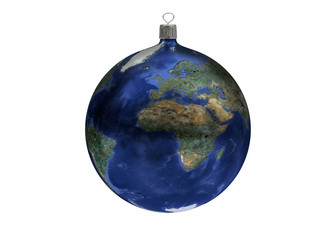 Christmas ball - earth