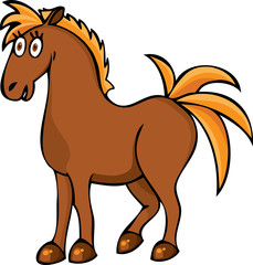 Funny horse
