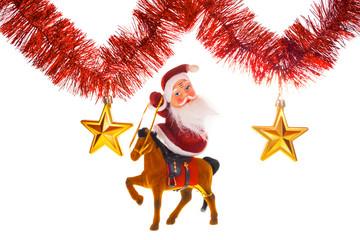 Santa claus under stars