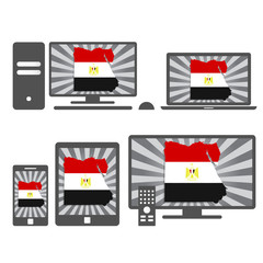Electronic devices with the map of Egypt