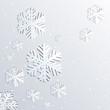 Obrazy na płótnie, fototapety, zdjęcia, fotoobrazy drukowane : Background with Christmas snowflakes.