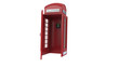 canvas print picture - Red telephone box