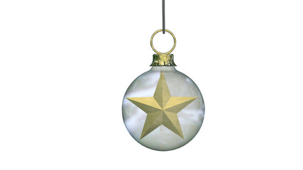 Bauble with Goldstar inside