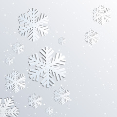Background with Christmas snowflakes.