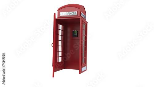 canvas print picture Red telephone box