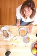 Beim Frühstück