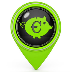 euro pig pointer icon on white background