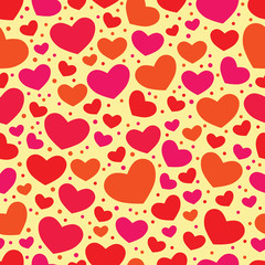 Seamless Valentine color background with hearts