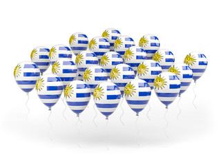 Balloons with flag of uruguay