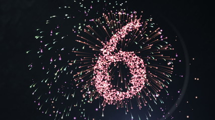 Firework style countdown for the new year