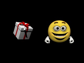 emoticon joyful - 3d render