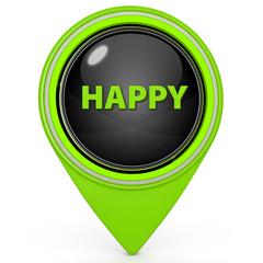 Smile face pointer icon on white background