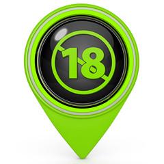 18 pointer icon on white background
