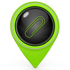 Clip pointer icon on white background