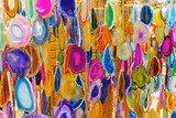 Colorful wind chimes poster