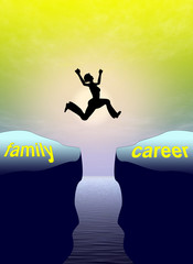 Family versus career, risky compatibility problems