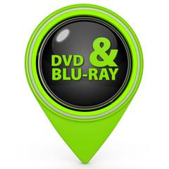 Dvd and bluray pointer icon on white background