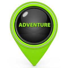 Adventure pointer icon on white background