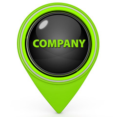 Company pointer icon on white background
