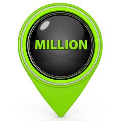 Million pointer icon on white background